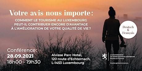 Tourismusstrategie Luxemburg - Fokus TOURISMUS UND LEBENSQUALITÄT billets