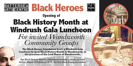 Black History Month Gala Luncheon FREE for Wandsworth's Windrush Elders tickets