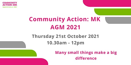 Community Action: MK AGM 2021 tickets