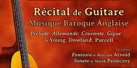 Récital de Guitare : Musique Baroque Anglaise billets