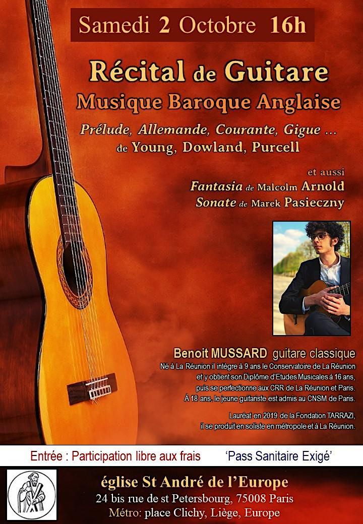Image pour Récital de Guitare : Musique Baroque Anglaise