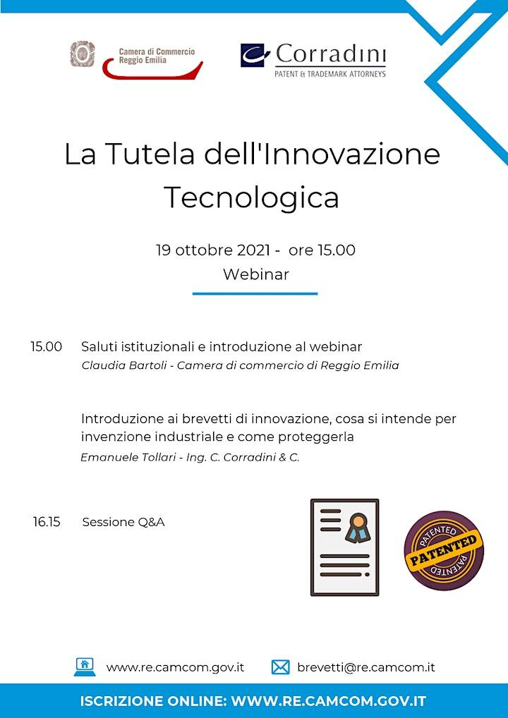 """Immagine WEBINAR """"LA TUTELA DELL'INNOVAZIONE TECNOLOGICA"""" – 19 OTTOBRE 2021"""
