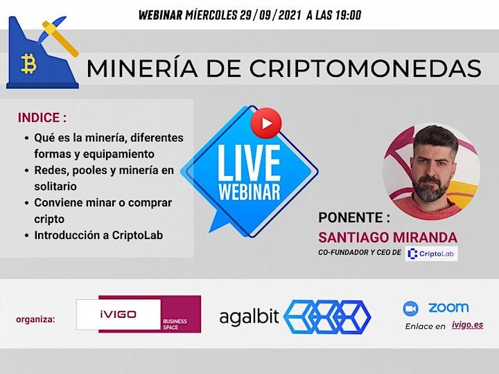Imagen de webinar MINERÍA DE CRIPTOMONEDAS