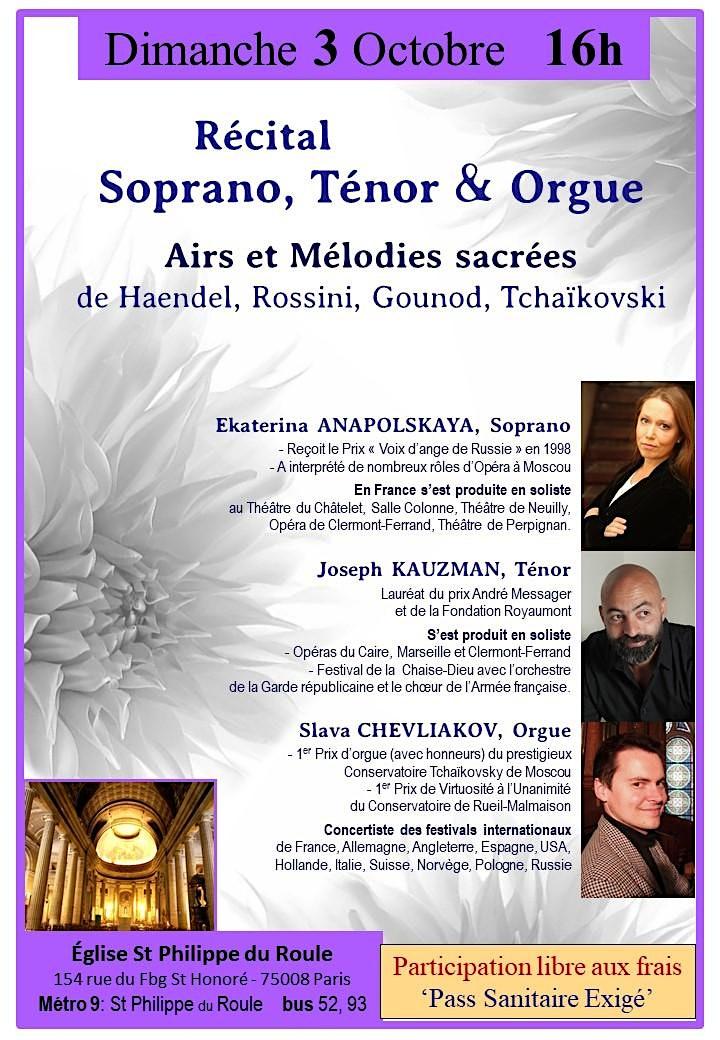 Image pour Récital  Soprano, Ténor & Orgue : par les Solistes de Moscou