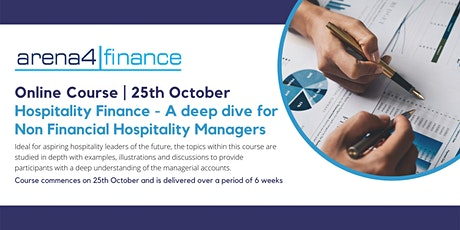 Hospitality Finance - A deep dive for Non Financial Hospitality Managers tickets