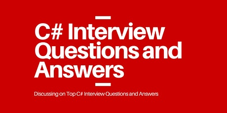 C# Interview Questions and Answers tickets
