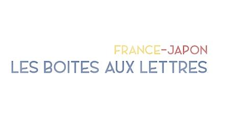 """Présentation du bloc de timbres FRANCE-JAPON - """"LES BOITES AUX LETTRES"""" billets"""
