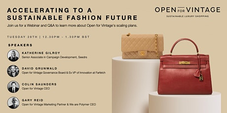 Accelerating To A Sustainable Fashion Future tickets