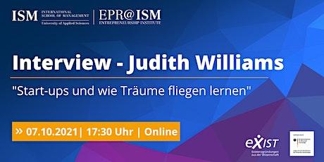 EPR@ISM -Judith Williams: Startups und wie Träume fliegen lernen Tickets
