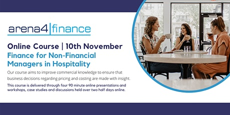 Online course: Finance for Non-Financial Managers in Hospitality tickets