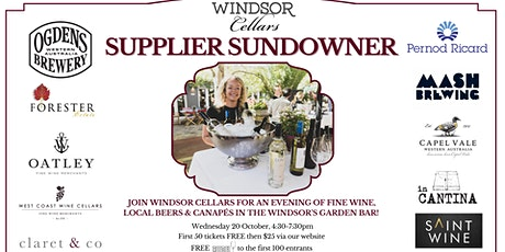 Windsor Cellars Supplier Sundowner tickets