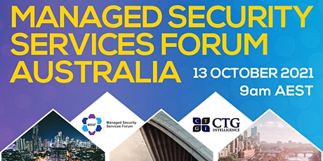 Managed Security Services Australia Forum tickets