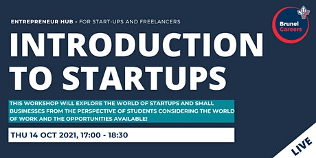 Introduction to startups workshop tickets