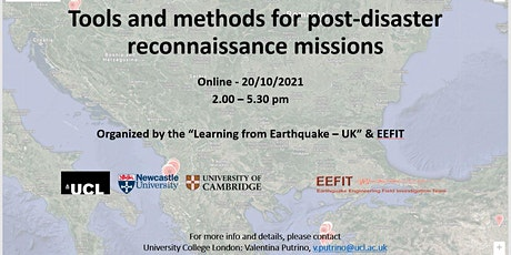 WORKSHOP: TOOLS and METHODS for POST DISASTER RECONNAISSANCE MISSIONS tickets