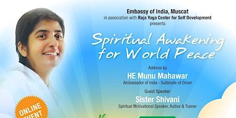Spiritual Awakening for World Peace tickets