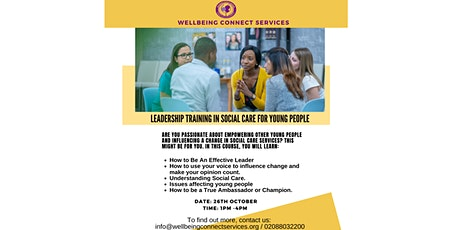 FREE LEADERSHIP TRAINING IN SOCIAL CARE FOR YOUNG PEOPLE tickets