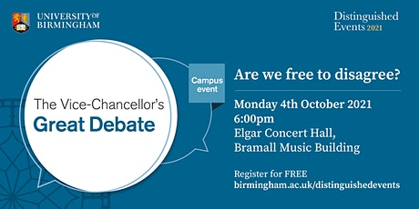 The Vice-Chancellor's Great Debate tickets
