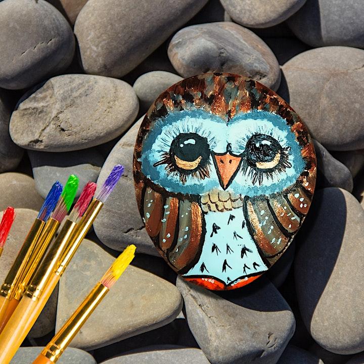 Craft@Home: Paint an Owl Rock image