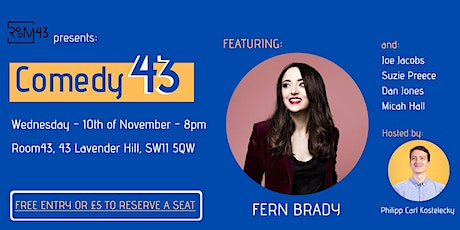 Comedy 43 - 10th of November tickets