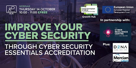 Improve your Cyber Security through Cyber Essentials Accreditation tickets