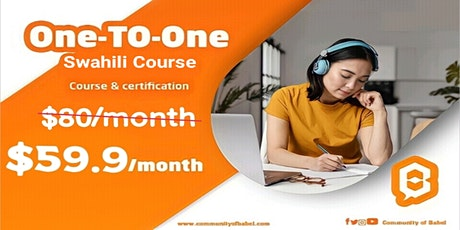 private one-to-one  Swahili online lessons tickets