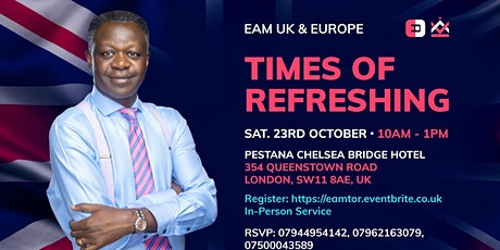 Times of Refreshing With Rev. Eastwood Anaba tickets