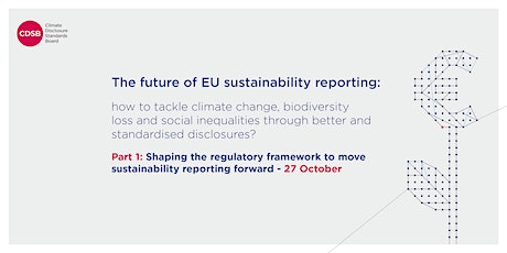 The future of sustainability reporting - Part 1 tickets