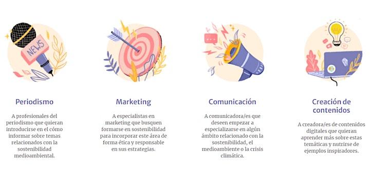 """Imagen de Webinar: """"Cómo comunicar la sostenibilidad""""."""