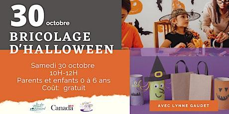 Bricolage d'Halloween / Matin douceur tickets
