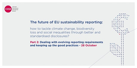 The future of sustainability reporting - Part 2 tickets