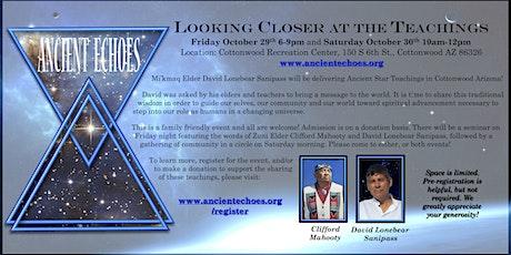Looking Closer at the Teachings - Elders David Lonebear & Clifford Mahooty tickets