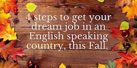 4 day challenge 4 an English-speaking job tickets