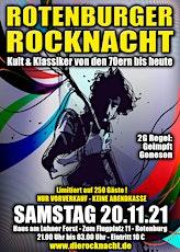 Rotenburger Rocknacht - Samstag, 20.11.2021 - 2G: Geimpft und Genesen Tickets