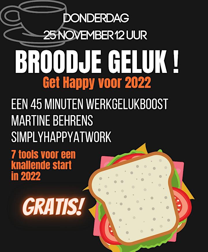 Afbeelding van gratis webinar  Broodje GELUK: get Happy voor 2022
