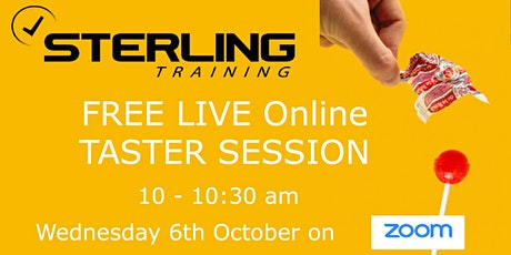 The Sterling Training Experience - Free Taster - Weds 6th Oct at 10am tickets