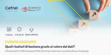Quali risultati di business grazie al valore dai dati? biglietti