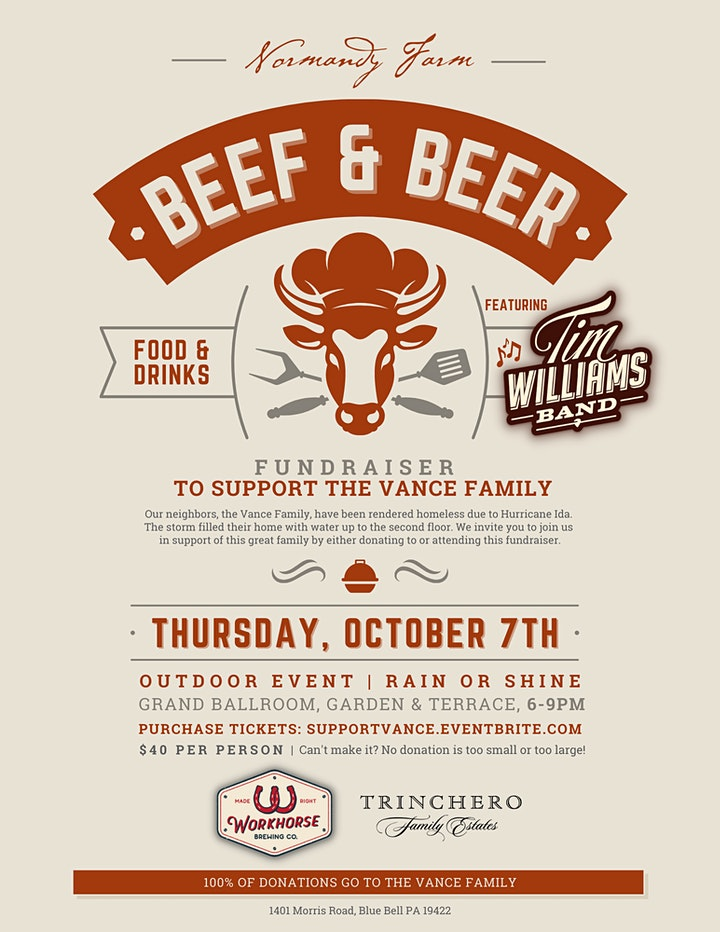 Beef & Beer Fundraiser To Support The Vance Family image
