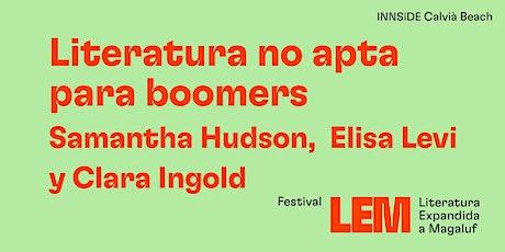 """""""Literatura no apta per a boomers"""" tickets"""