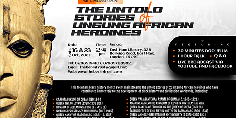 Newham Black History Month:  The Untold Stories of Unsung African Heroines tickets