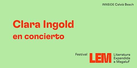 Clara Ingold en concert. tickets