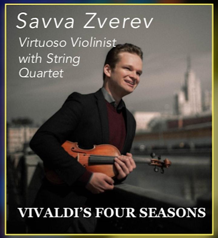 Savva Zverev Vivaldi's Four Seasons Virtuoso Violinist with String Quartet image