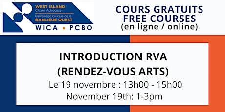 INTRODUCTION  RVA (RENDEZ-VOUS ARTS) tickets