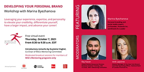 Developing Your Personal Brand tickets