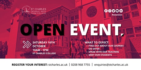 St Charles Catholic Sixth Form College Open Event tickets