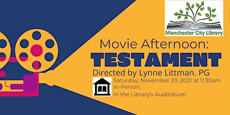Movie Afternoon: Testament, directed by Lynn Littman. PG tickets