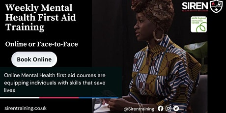 2-day Mental Health First Aid Course tickets