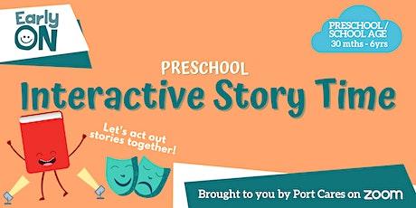 Preschool Interactive Storytime tickets