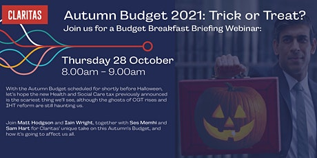 The Autumn Budget 2021 - Trick or Treat? tickets