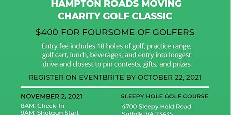1st Annual Hampton Roads Moving Charity Golf Classic tickets