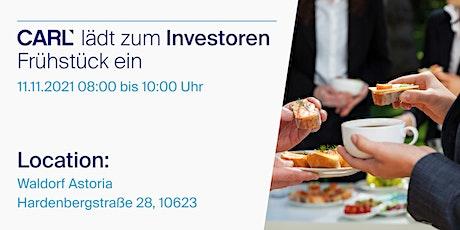 CARL Investoren-Frühstück tickets